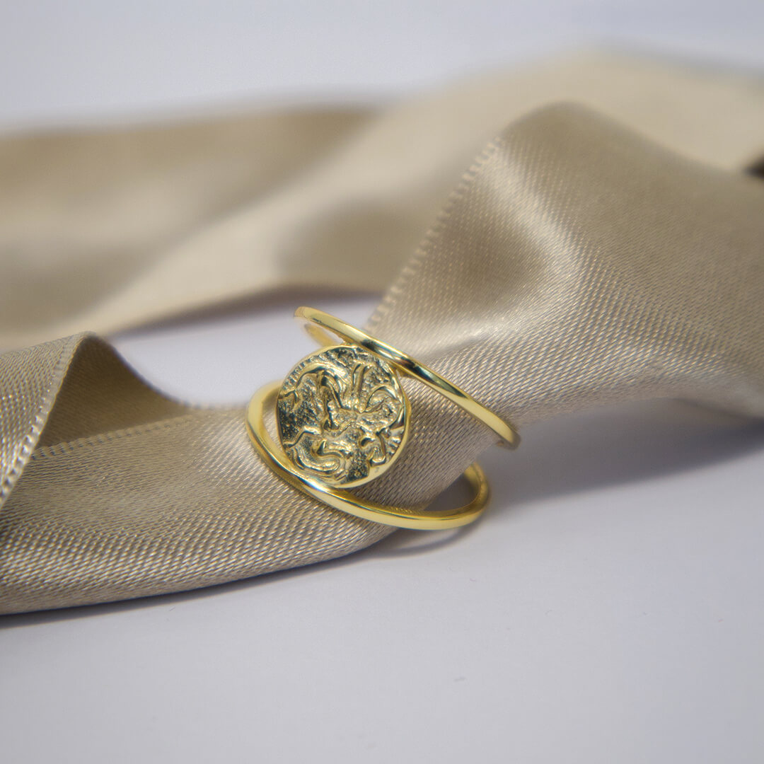 Gold Plated Roman Signet Ring