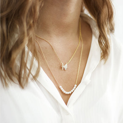 Double Layered Chain Necklace Ithaca