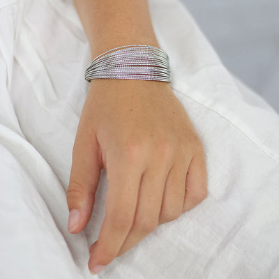 Three Color Wire Bangles