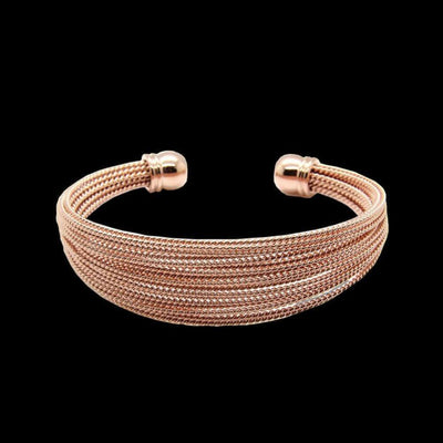 Three Color Wire Bangles - belledesoiree.com