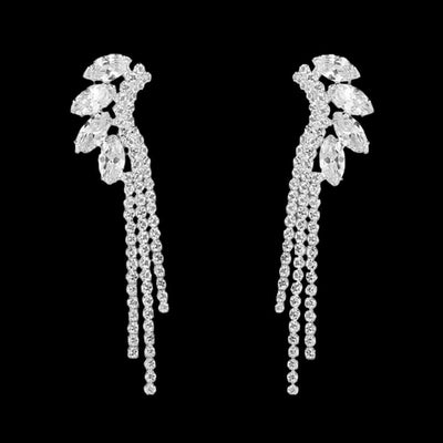 Clear Rhinestones Drop Earrings Natalia