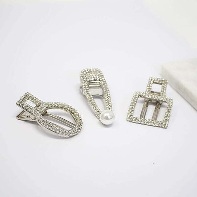 Pearl Diamond Clip Sets