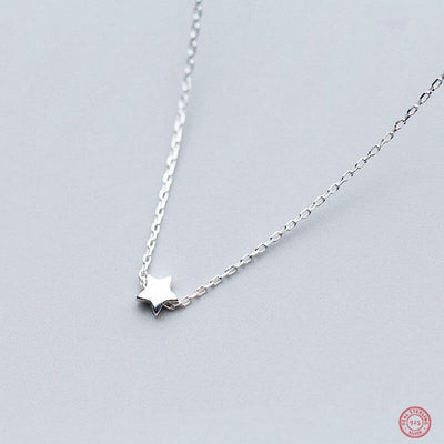 Sterling Silver Cute Choker Necklace