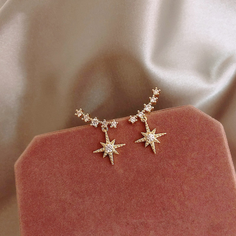 Small Crystal Star Earrings