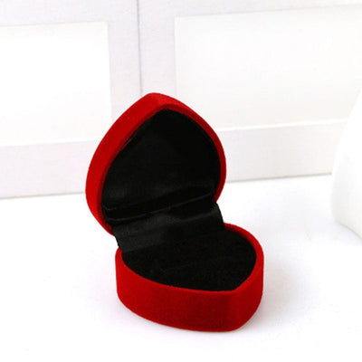 The Love Heart Red Ring Box