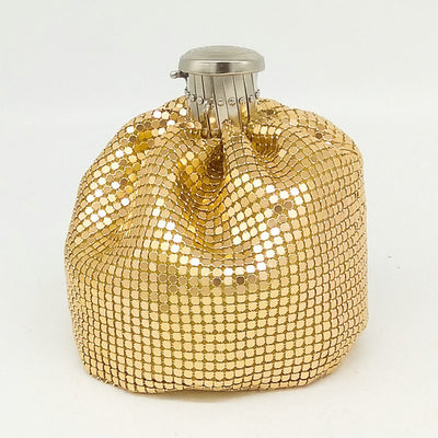 Silver & Gold Bag You Will Love - Gold Purse / 10X10X10cm - belledesoiree.com