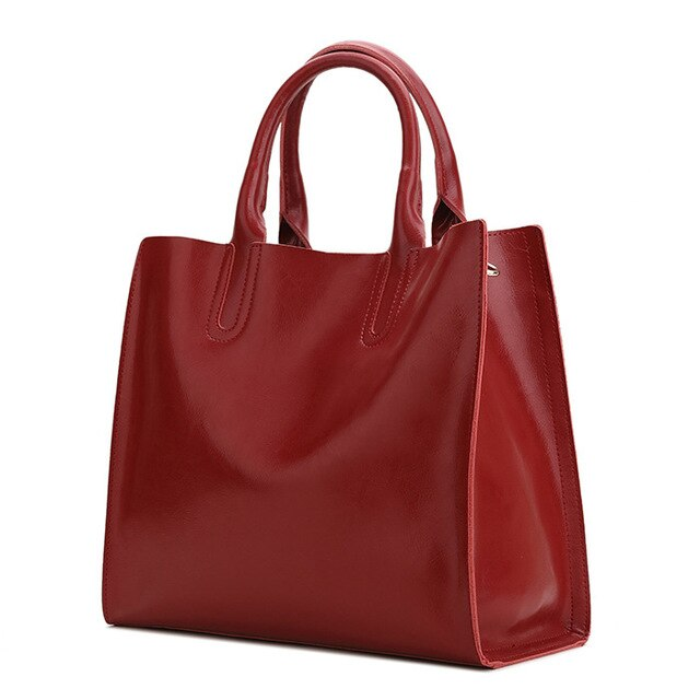 Bella Genuine Burgundy Leather Bag- belledesoiree.com