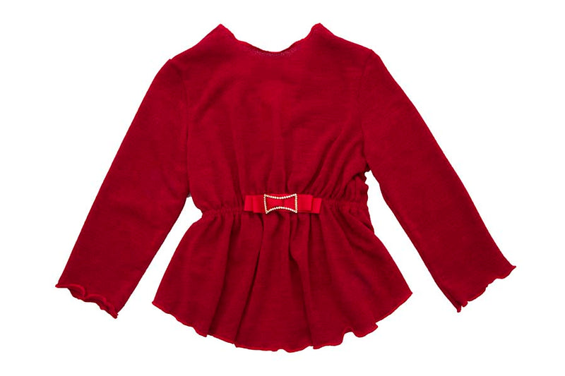 Warm Jersey Cardigan Red