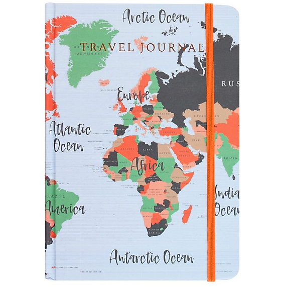 Map Print A5 Travel Journal - Made by you Supplies
