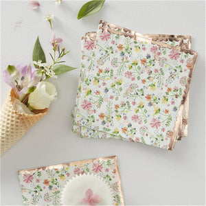 Ditsy Floral Paper Napkins - Pack of 16 - Ginger Ray - Made by you Supplies