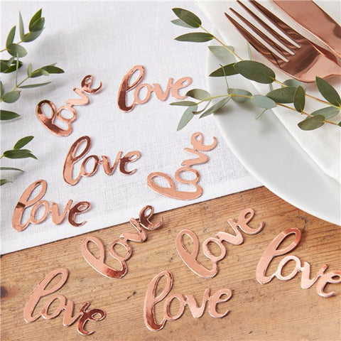 Beautiful Botanics Rose Gold Love Table Confetti - Ginger Ray - Made by you Supplies