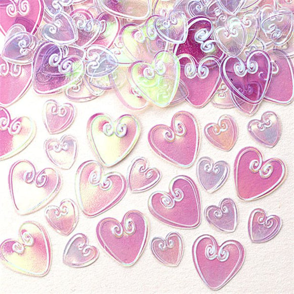 Iridescent Love Hearts Table/Invite Confetti - 14 grams - Amscan - Made by you Supplies