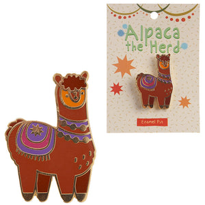 Fun Alpaca / Llama Enamel Pin Badge