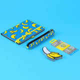 Banana Stationery - Notebook, Pencil Case, Sticky Notes and Page Markers