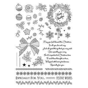 A5 Clearly Stamps Set - Deck The Halls - Made by you Supplies