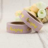 Days of the Week Washi Tape - Goil Foil