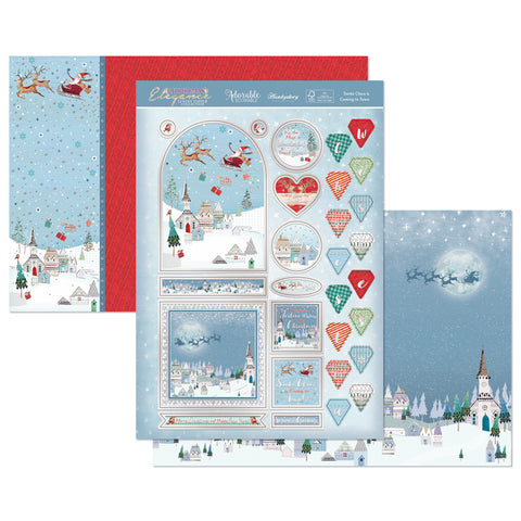 Santa Claus is Coming to Town Luxury Craft Topper Set - Hunkydory - Made by you Supplies