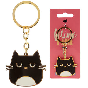 Cute Cat Enamel Key Ring
