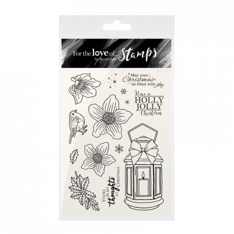 For the Love of Stamps - Christmas Rose Lantern - Hunkydory - Made by you Supplies