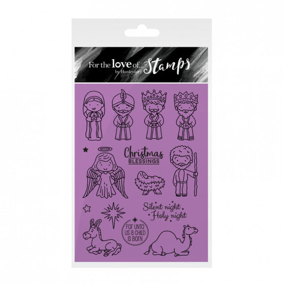 The Nativity Stamp Set - Hunkydory