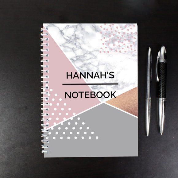 Personalised Geometric A5 Notebook