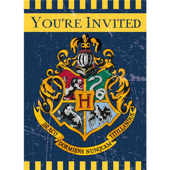 Harry Potter Party Invitations - Pack of 8 - Unique