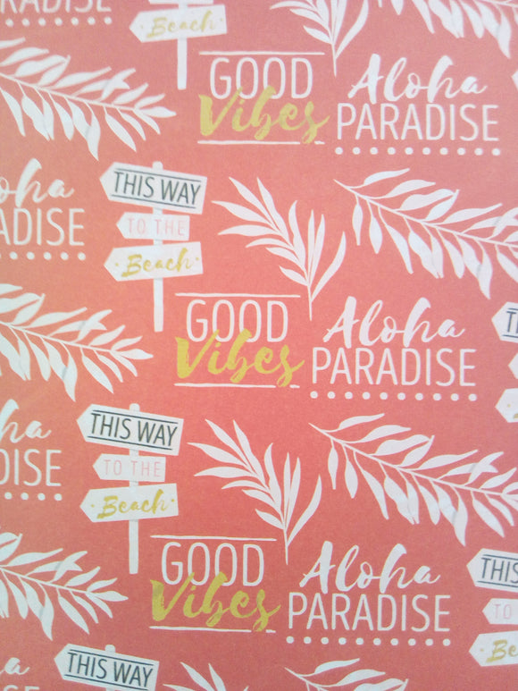 Love to Craft Paper Pad - Paradise Blooms - 6