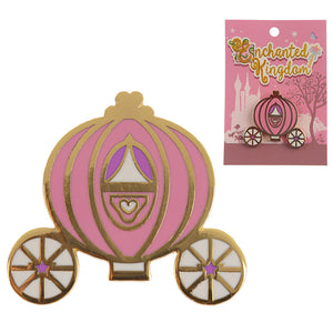 Cute Princess Carriage Enamel Pin Badge