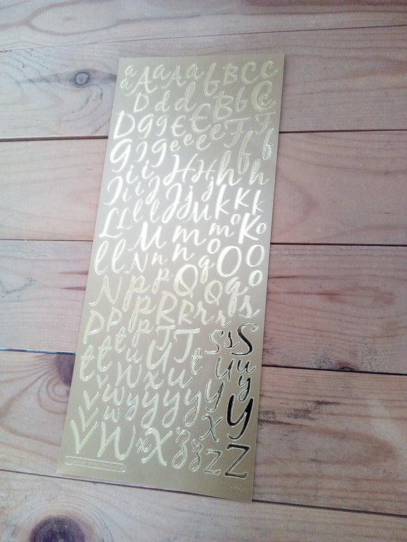 Anita's Peel Off Stickers - Modern Alphabet Letters  - in Gold