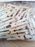 Pack of 60 Mini Wooden Pegs - suitable for crafting