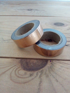 Copper Coloured Foil Washi Tape - 10 metres in length - Made by you Supplies