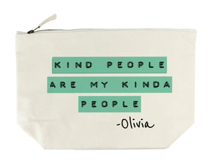 Kind People Wash Bag - Green