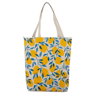 Cotton Lemon Tote Bag