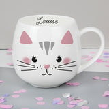 Personalised Cute Cat Shaped Mug