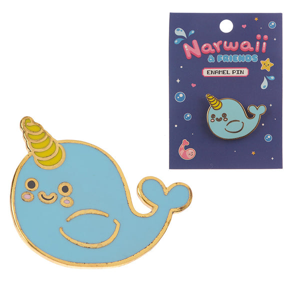 Cute Narwhal Enamel Pin Badge