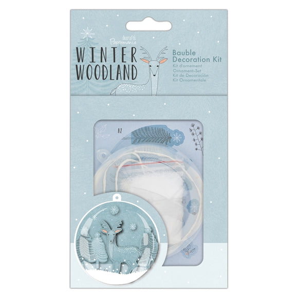 Christmas Bauble Decoration Kit - Winter Woodland - Made by you Supplies