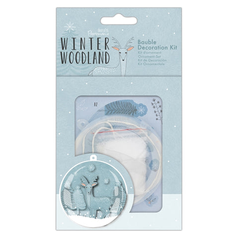 Bauble Decoration Kit - Winter Woodland - Made by you Supplies