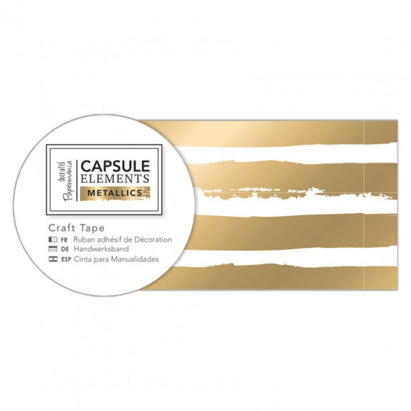 Gold Stripe Craft Tape - Elements Metallics - Made by you Supplies