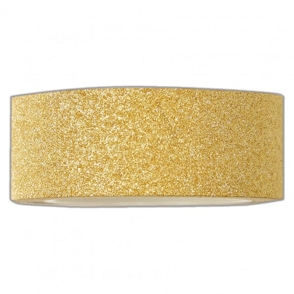 Docrafts Create Christmas Craft Tape - Gold Glitter - 5 metres in length - Made by you Supplies