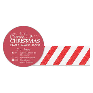 Red and White Craft Tape - Docrafts Create Christmas