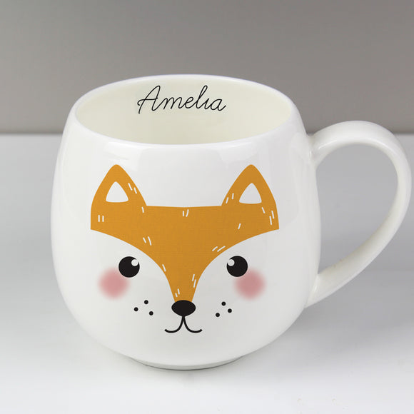 Personalised Cute Fox Shape Mug
