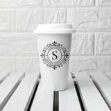 Personalised Monogrammed Ceramic Travel Mug