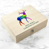 Personalised Geometric Reindeer Christmas Eve Box - Small