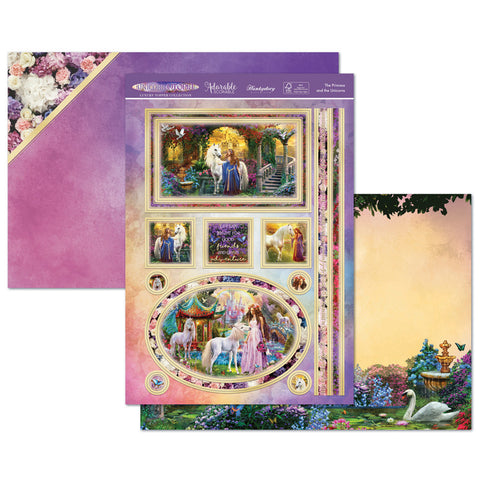 Unicorn Utopia Luxury Craft Topper Set - The Princess and the Unicorns - Hunkydory - Made by you Supplies