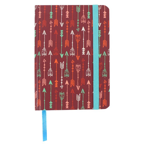 A6 Lined Arrow Hardback Notebook