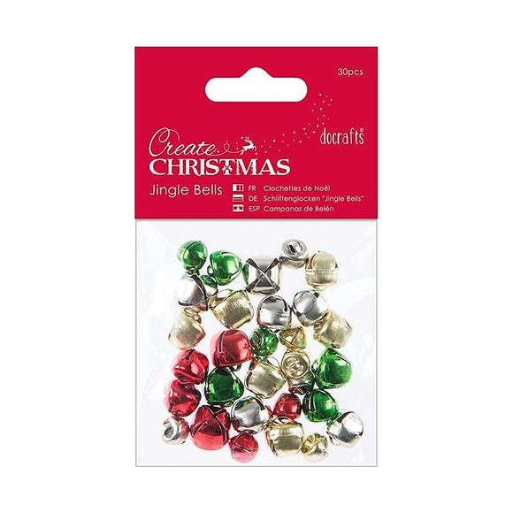 Docrafts Create Christmas Crafting Jingle Bells - 30 pieces