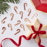 Candy Cane Christmas Table Confetti - Red, White and Gold Foil