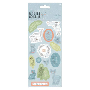 Sticker Sheet (2pk) - Winter Woodland - Made by you Supplies