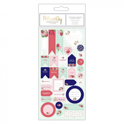 Sticker Sheet (66pcs) - Graphic Florals - Noteworthy - Made by you Supplies