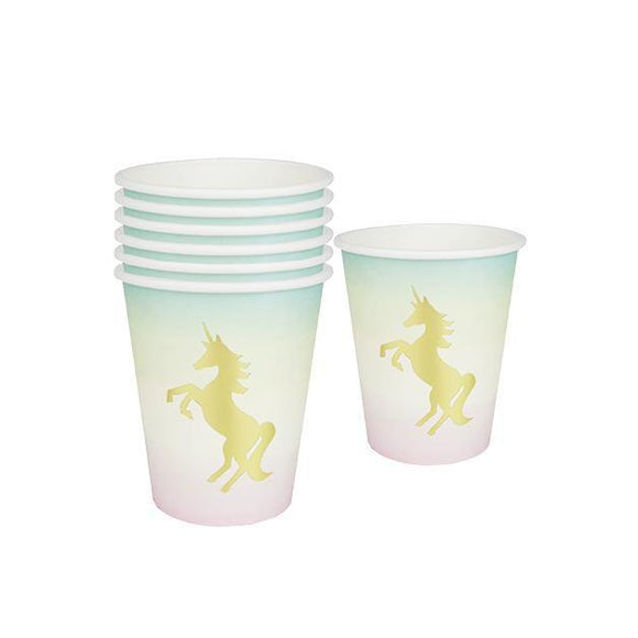 We Heart Unicorns Paper Cups - Set of 12 - Talking Tables